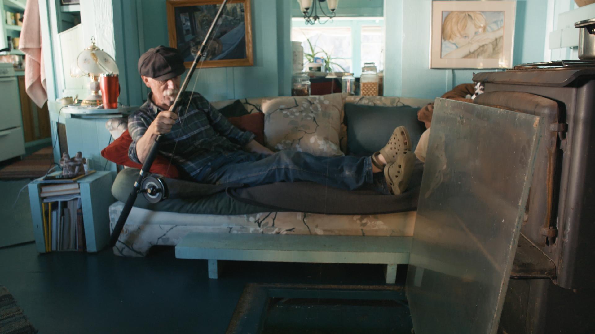 Wayne Adams poder pescar no conforto de seu sofá