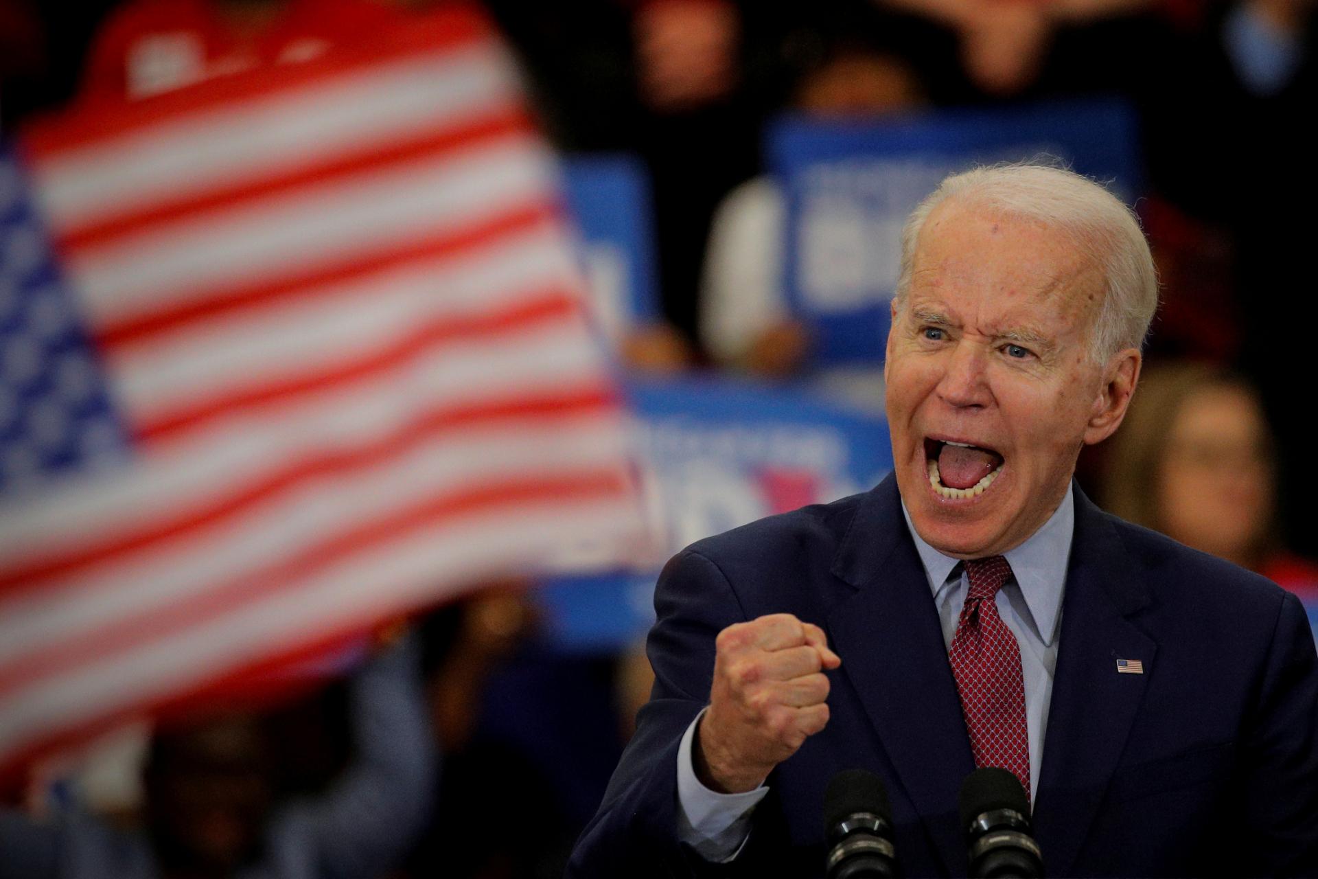 Joe Biden discursa em Detroit, Michigan