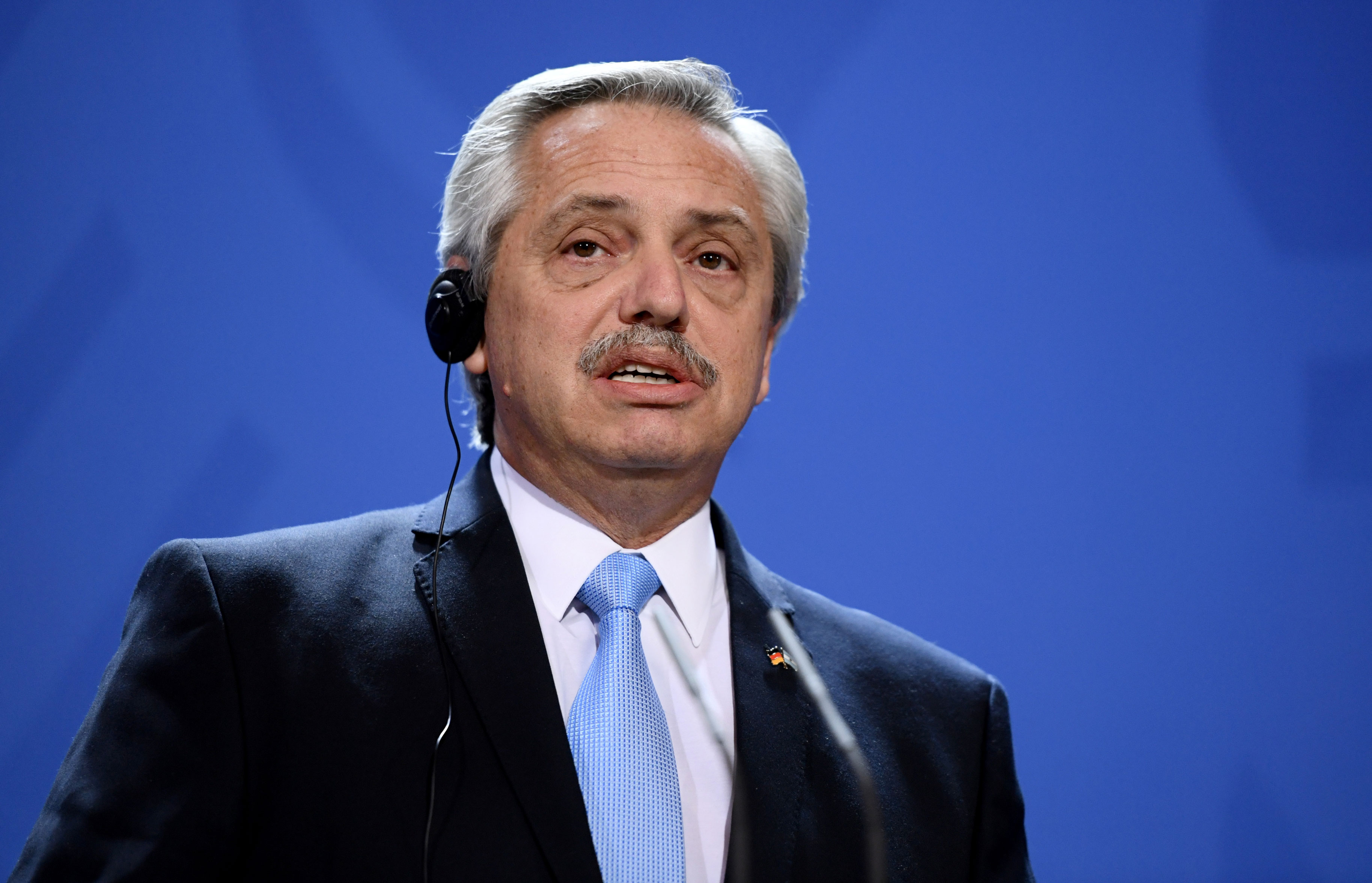 O presidente argentino Alberto Fernández