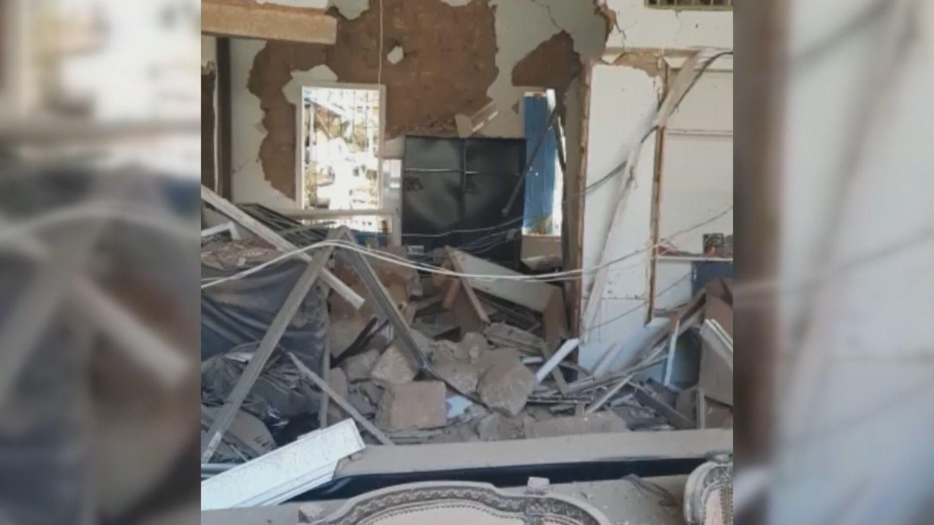 Casa de brasileira em Beirute, no Líbano, ficou destruída