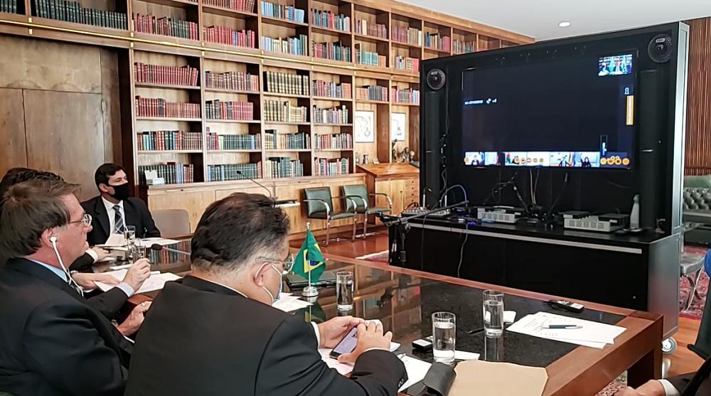 Jair Bolsonaro em videoconferência