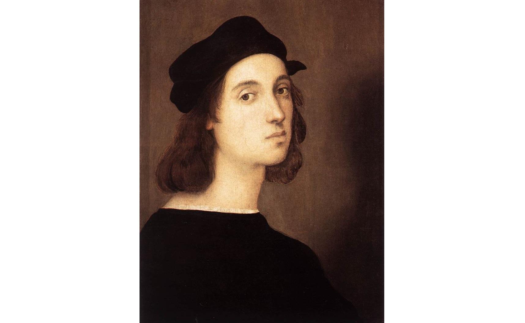 Autorretrato, pintado por Rafael por volta de 1506