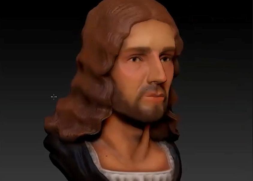 Reconstrução em 3D do rosto de Rafael