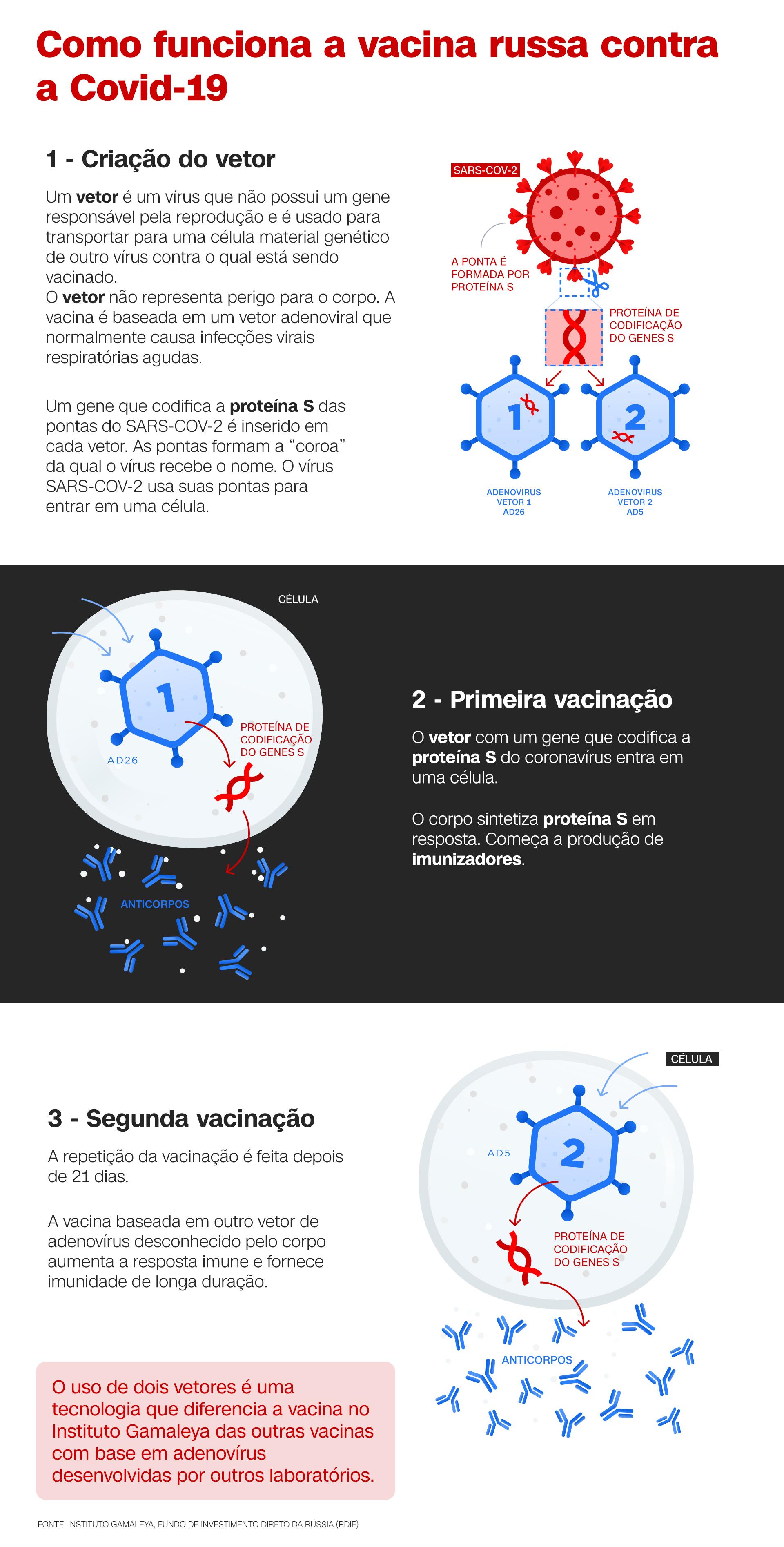Infográfico vacina russa