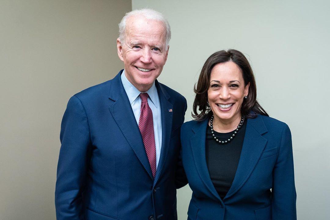 A chapa democrata à presidência dos EUA, Joe Biden e Kamala Harris