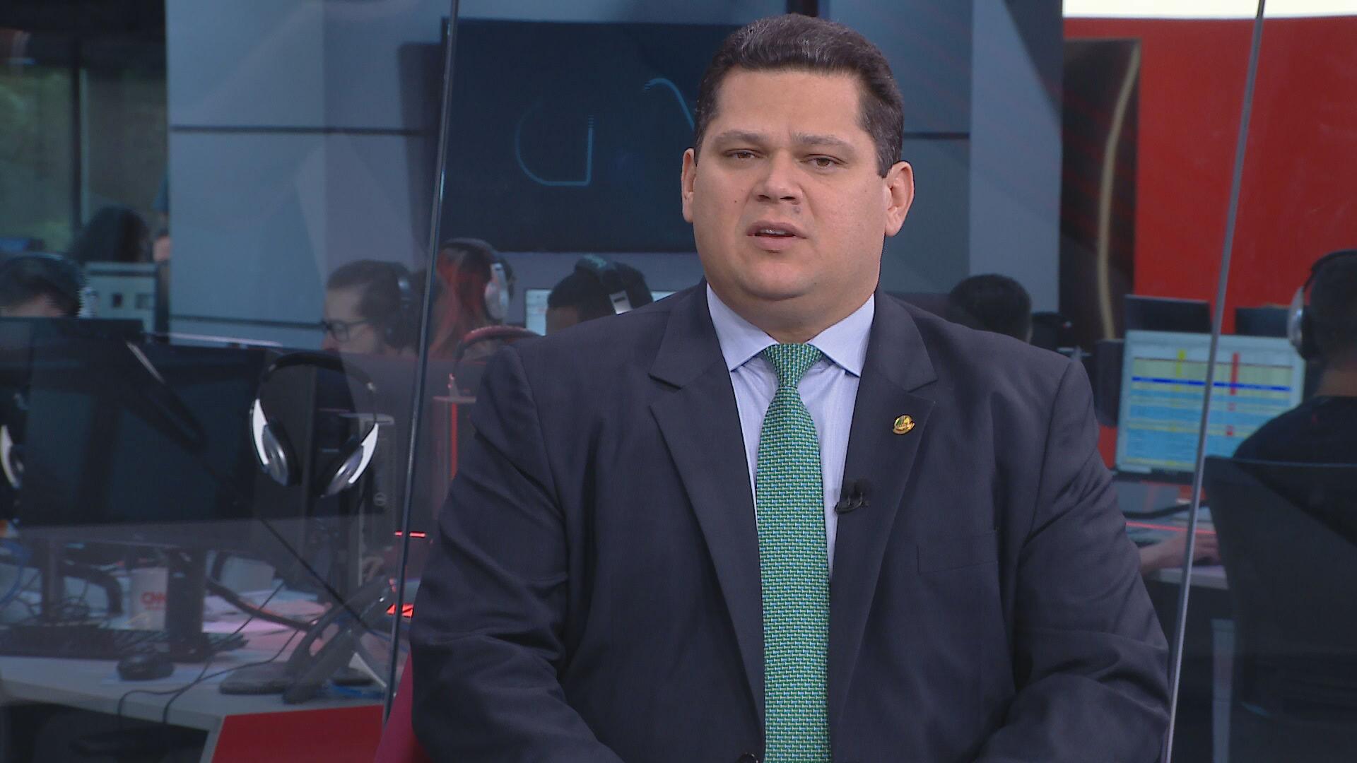Davi Alcolumbre, presidente do Senado, em entrevista à CNN Brasil