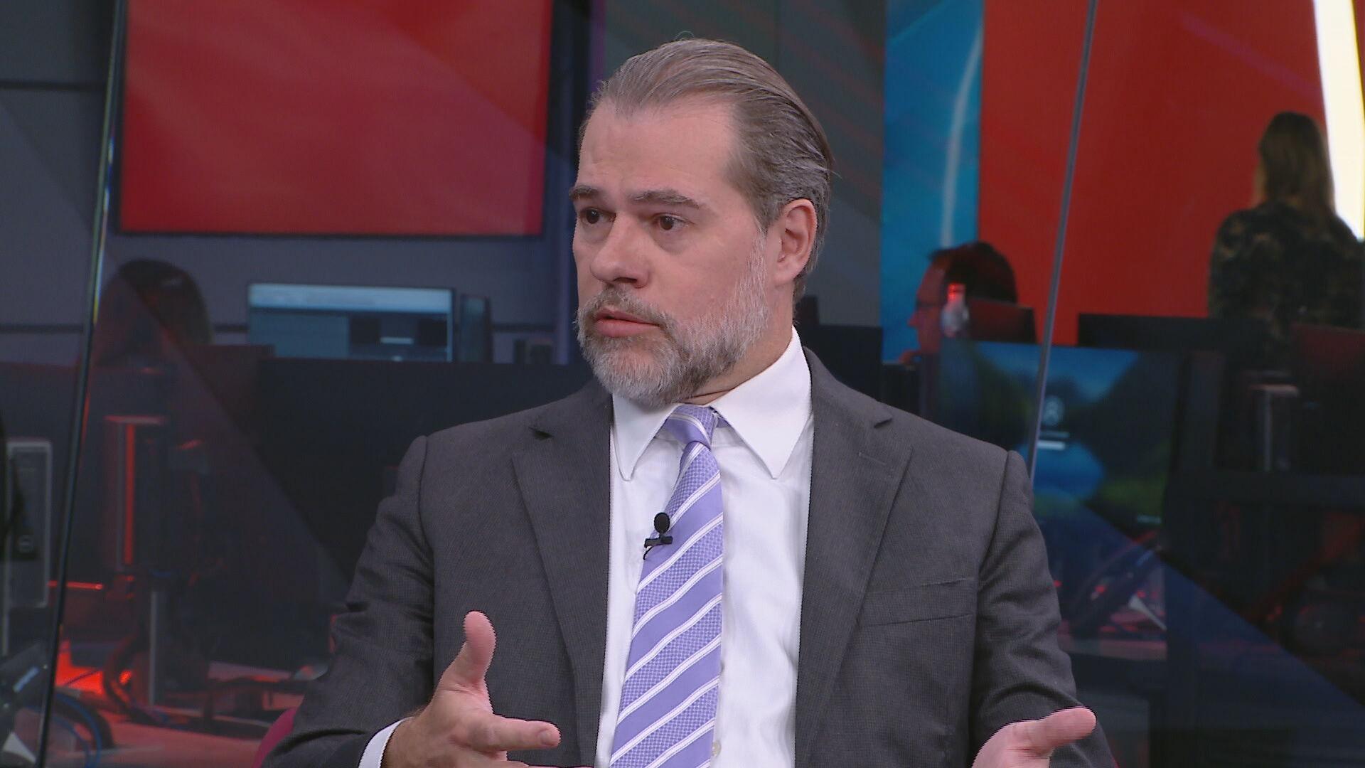 Ministro Dias Toffoli, presidente do STF, em entrevista à CNN Brasil