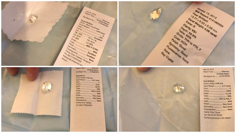 Diamantes de Sérgio Cabral com mais de 4 quilates recuperados pelo MPF