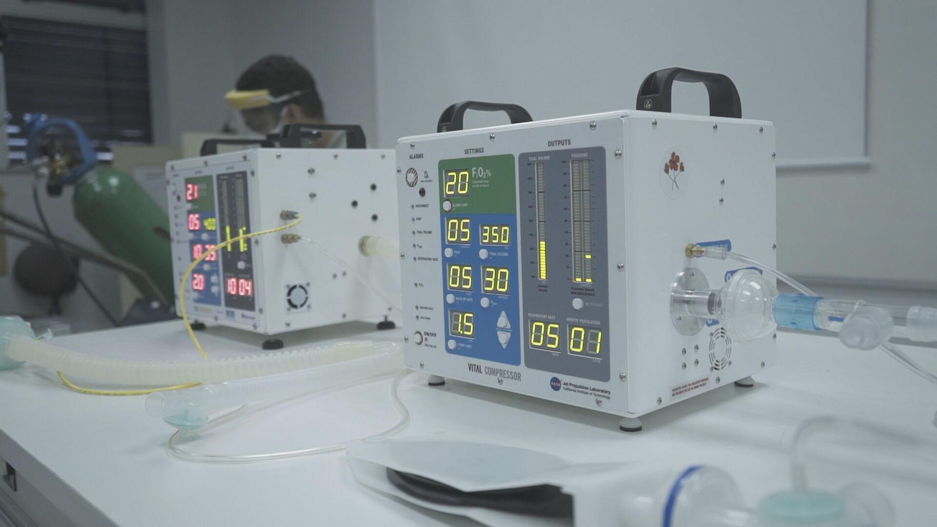 Primeiro ventilador pulmonar projetado pela Nasa e que será produzido em larga e