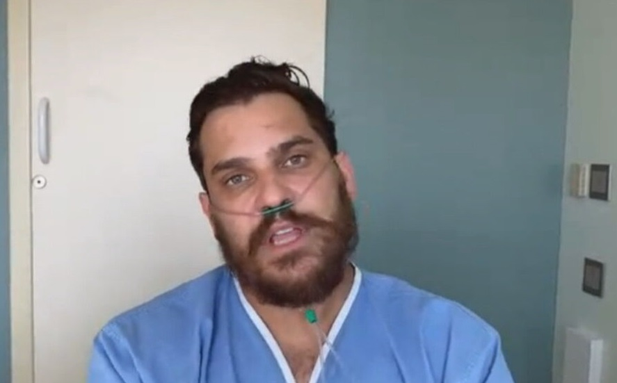Do quarto do hospital, o cantor Cauan Máximo, da dupla com Cleber, fala sobre te
