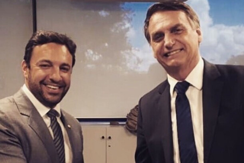O deputado federal Daniel Freitas (PSL-SC) e o presidente Jair Bolsonaro