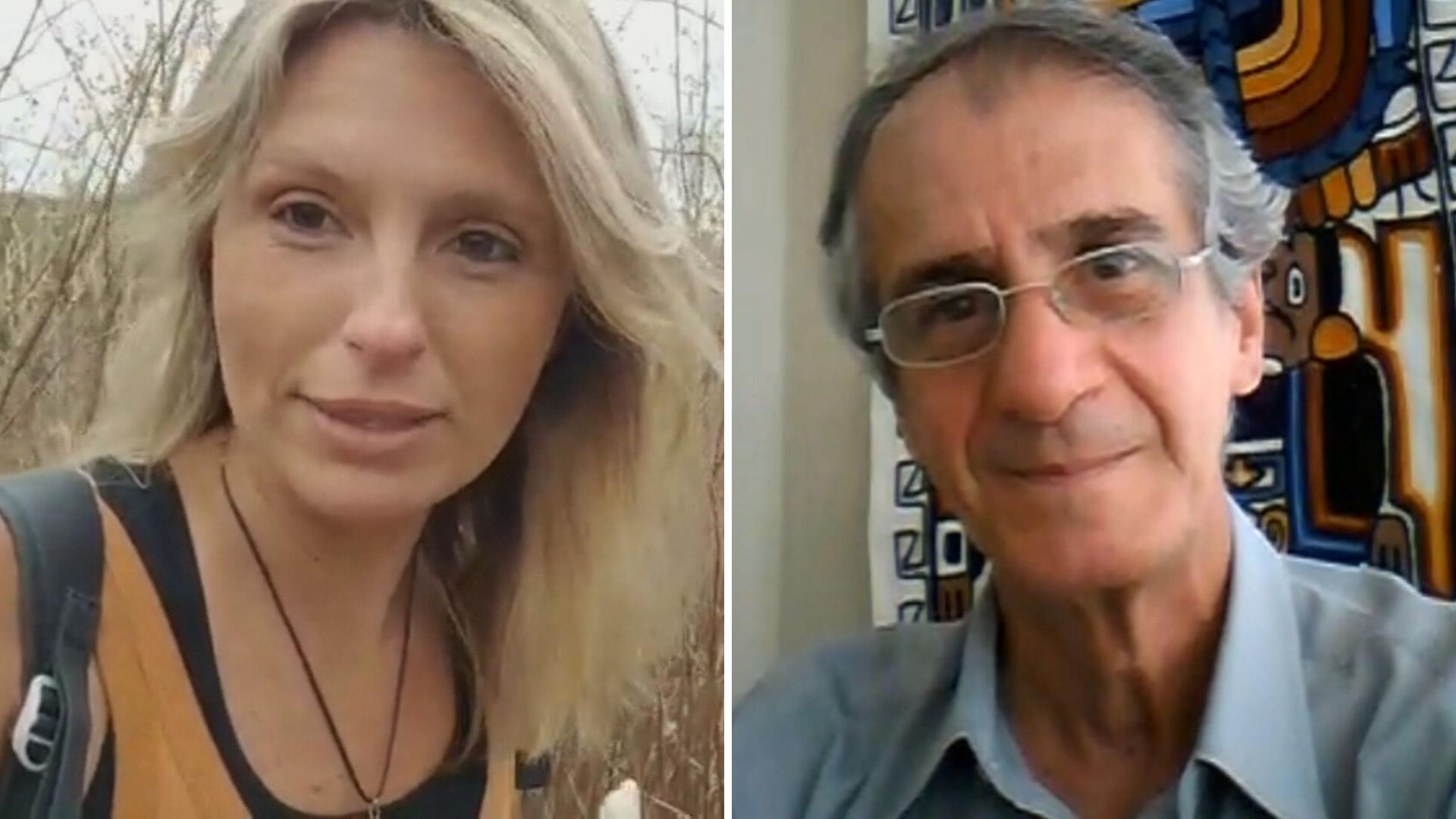 Amanda Tosi e José Williams, pesquisadores explicam sobre meteoritos