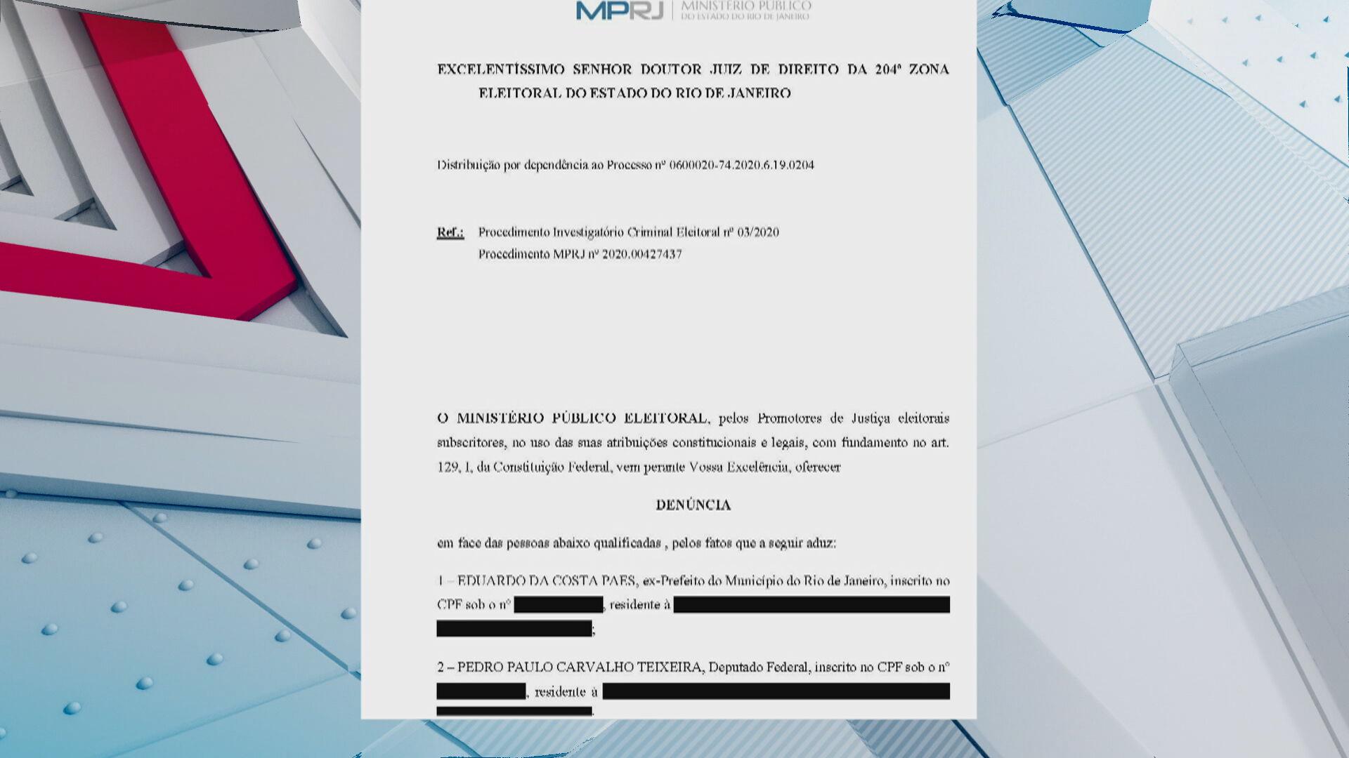 Eduardo Paes recebeu quase R$ 11 milhões em propina, segundo MP