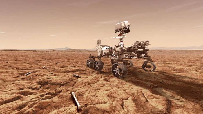 Rover Perseverence na superfície de Marte