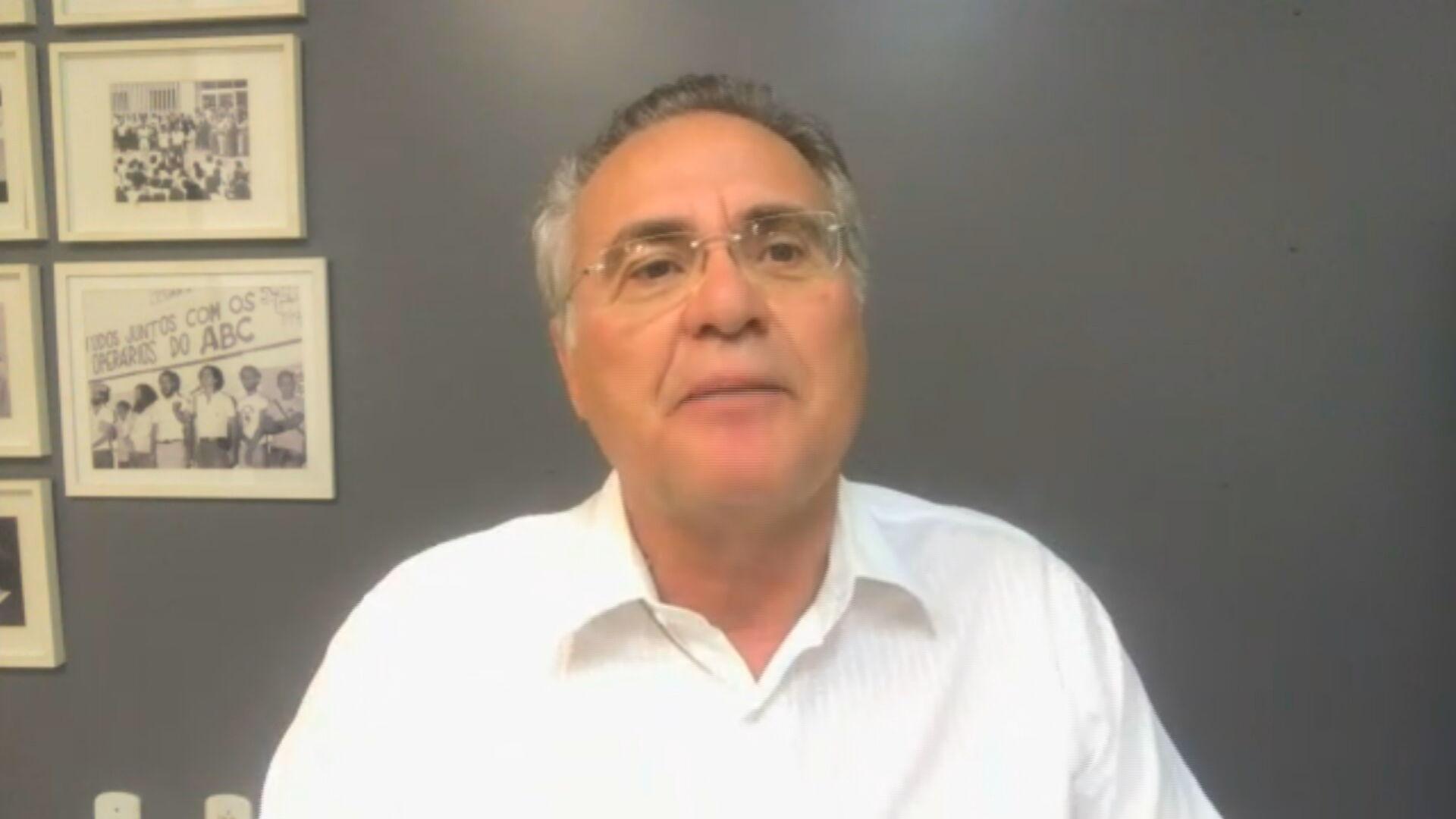 Senador Renan Calheiros (MDB-AL) em entrevista para a CNN (08.set.2020)