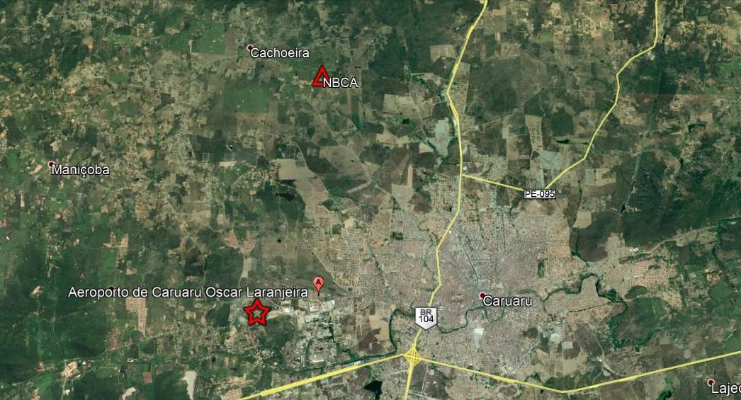 Imagem mostra região atingida por abalos de terra em Pernambuco
