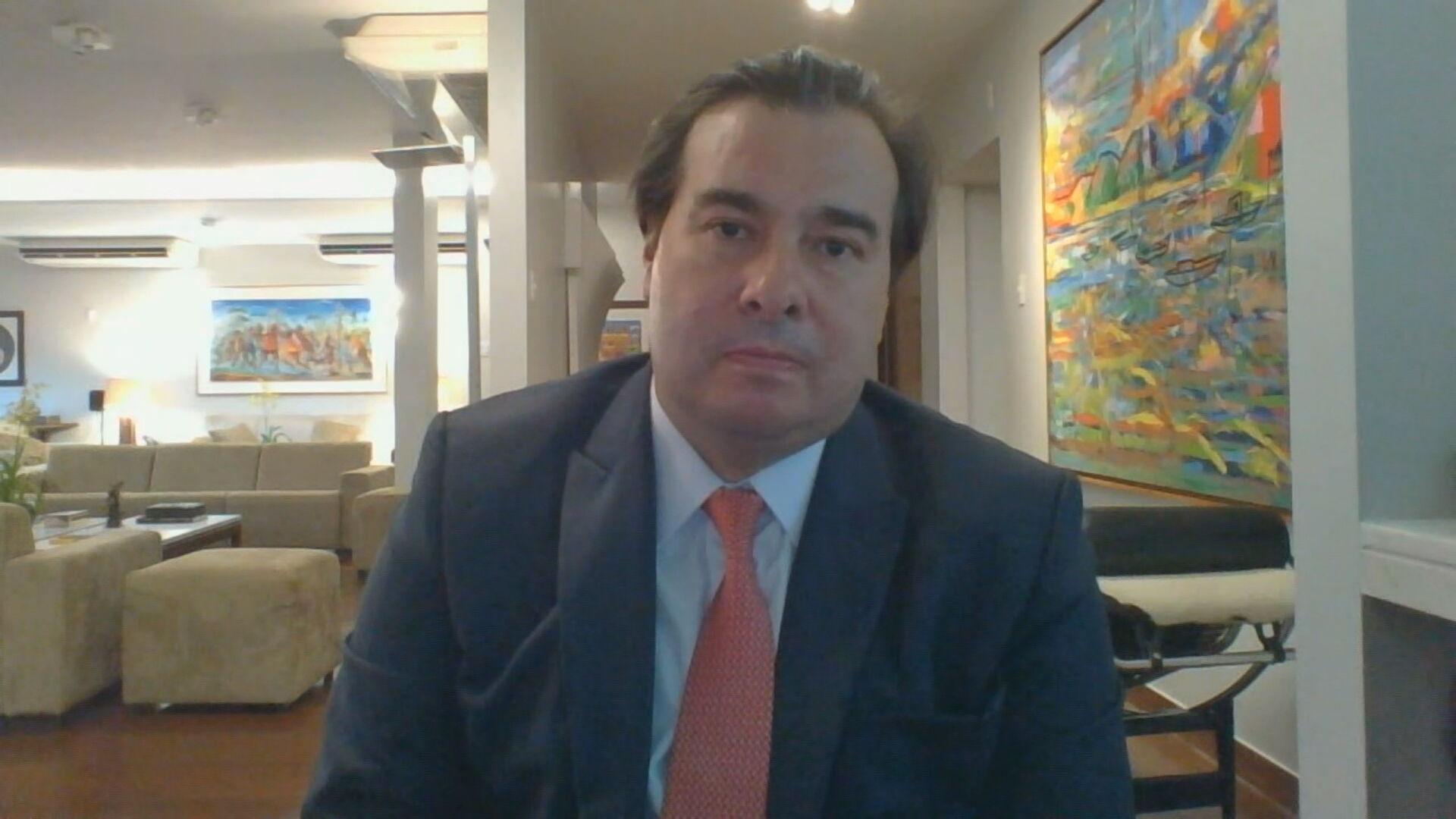 Presidente da Câmara dos Deputados, Rodrigo Maia (DEM-RJ) em entrevista à CNN (0