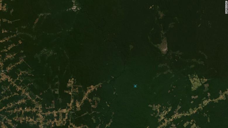 Imagens de satélite da região do Amazonas