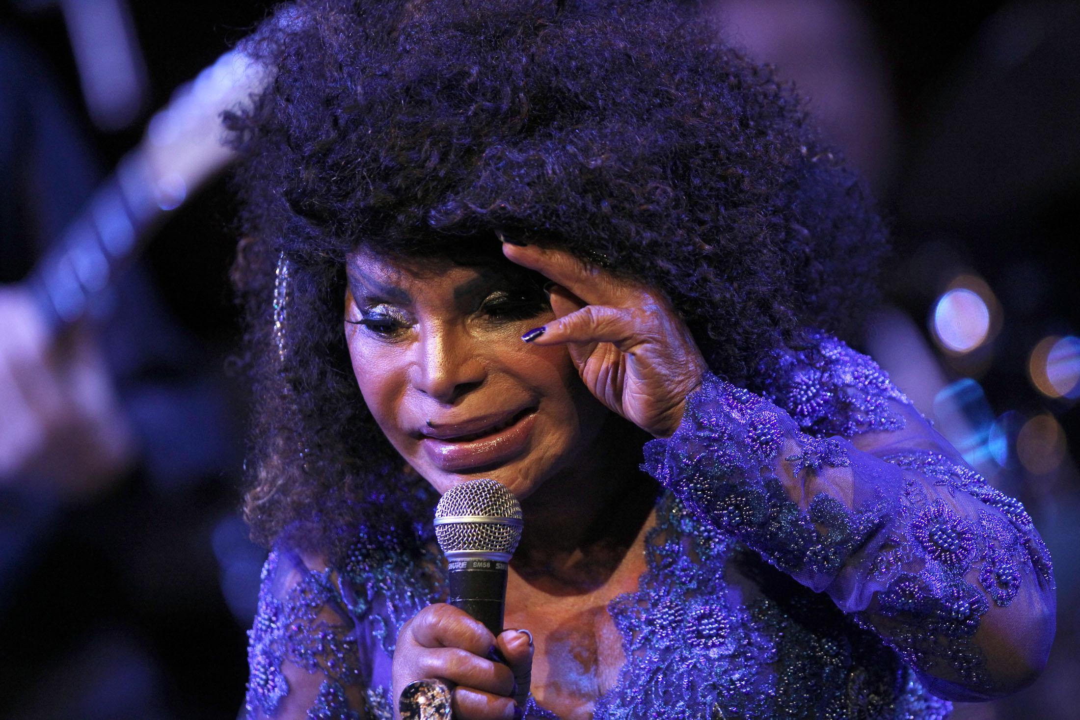 Show da cantora Elza Soares no Teatro Municipal de São Paulo, em 2014