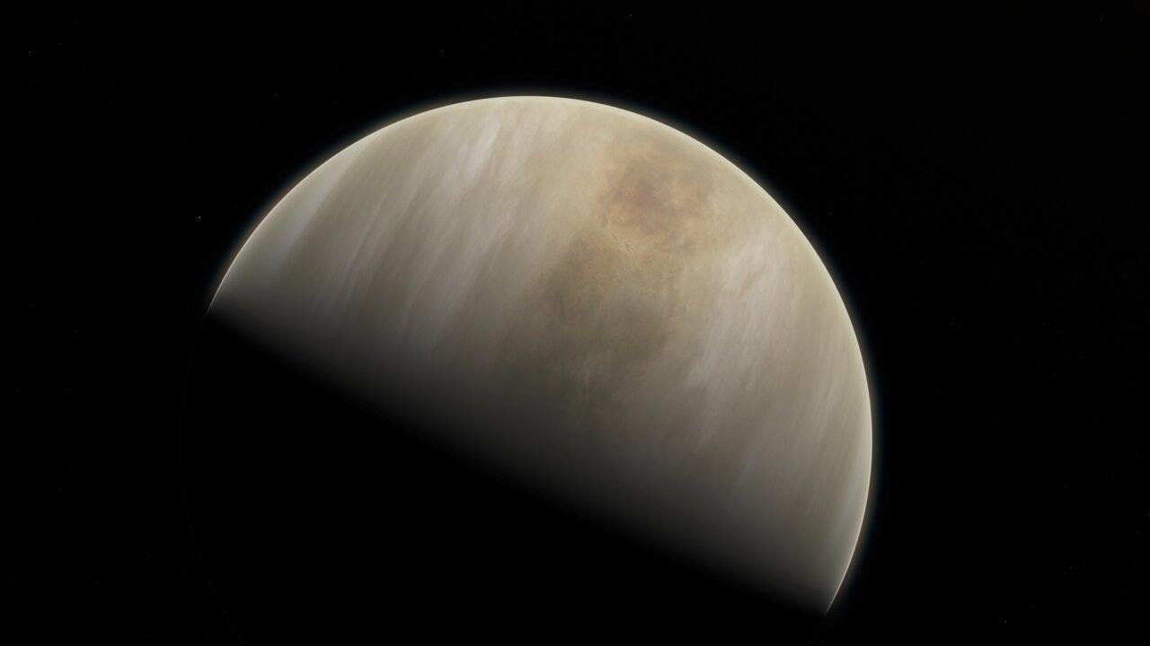 Ilustração do planeta Vênus