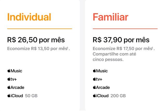 Apple One preços Brasil