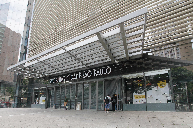 Shopping Cidade de São Paulo fechado