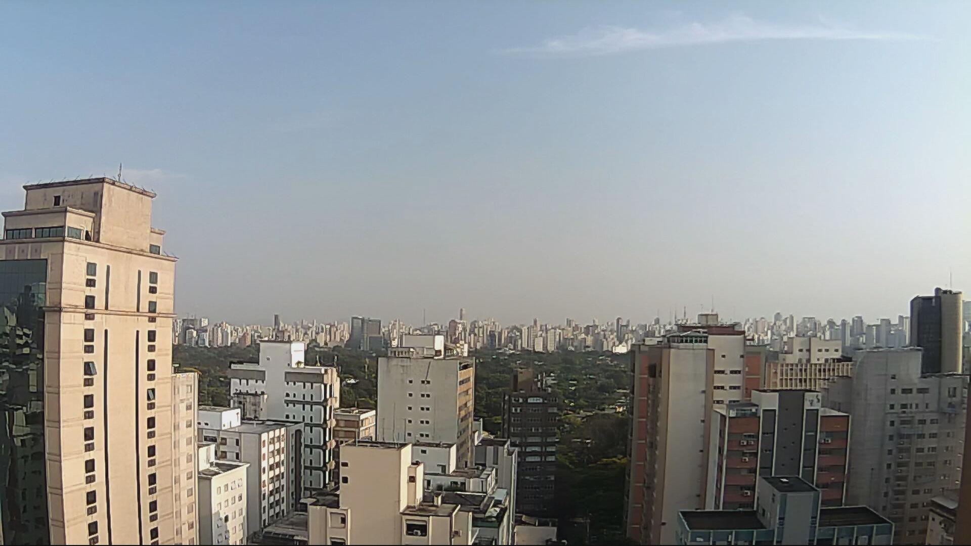 Vista do céu da capital paulista