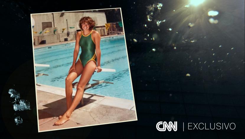 A ex-nadadora Debra Grodensky aos 14 anos de idade