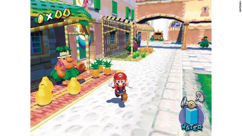"""Em """"Super Mario Sunshine"""", a ideia era trazer a sensação de estar de férias"""