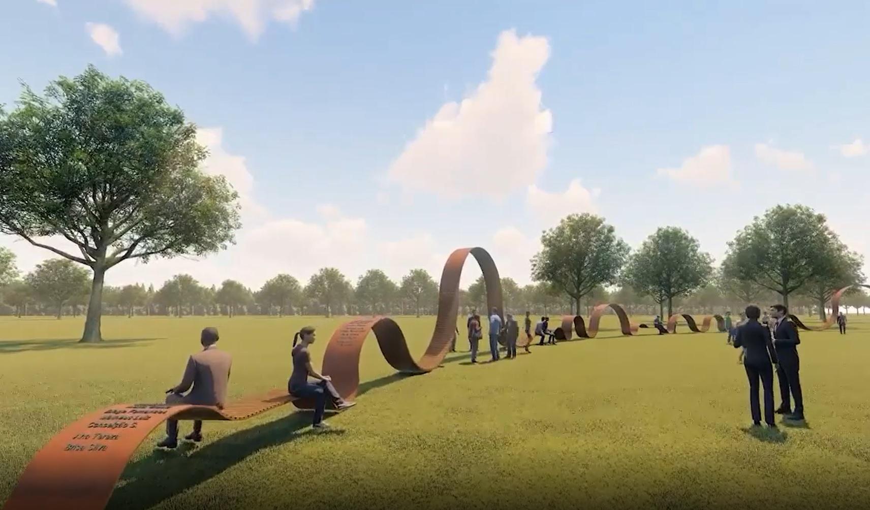 Projeção do escritório Crisa Santos Arquitetos mostra Memorial In-finito no Cemi