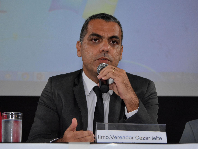 O vereador Cezar Leite, candidato do PRTB a prefeito de Salvador