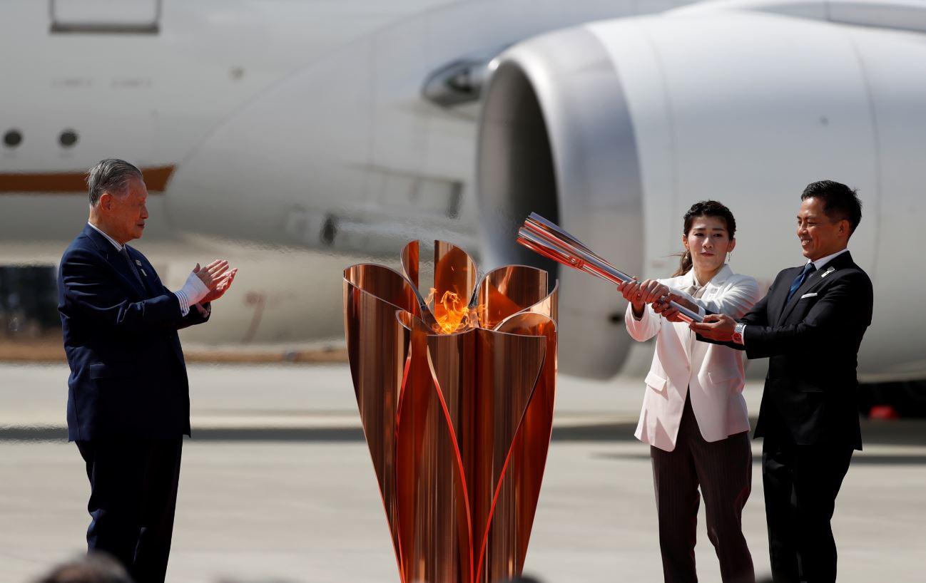 Chama olímpica chega ao Japão para Jogos de Tóquio 2020