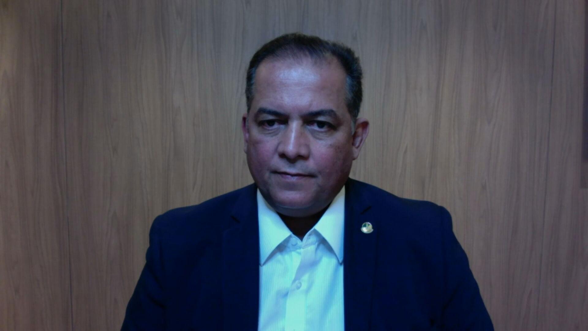 Senador Eduardo Gomes (MDB-TO), líder do governo no Congresso Nacional em entrev