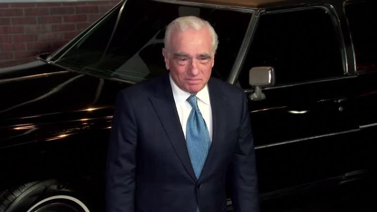 O diretor Martin Scorsese chegando à premiere de 'O Irlandês'