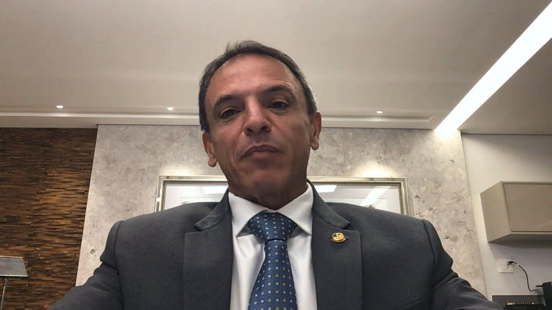 Senador Márcio Bittar (MDB-AC), relator do orçamento de 2021 em entrevista para