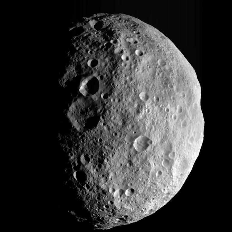Asteroide Vesta, um dos maiores registrados até hoje