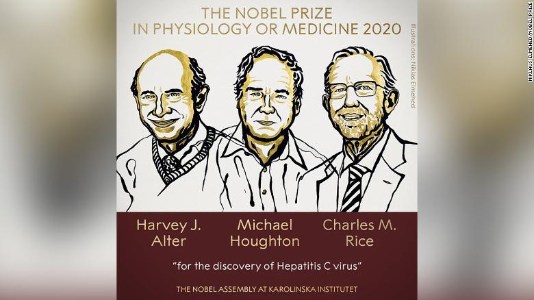 Trio de cientistas descobriu o vírus da hepatite C