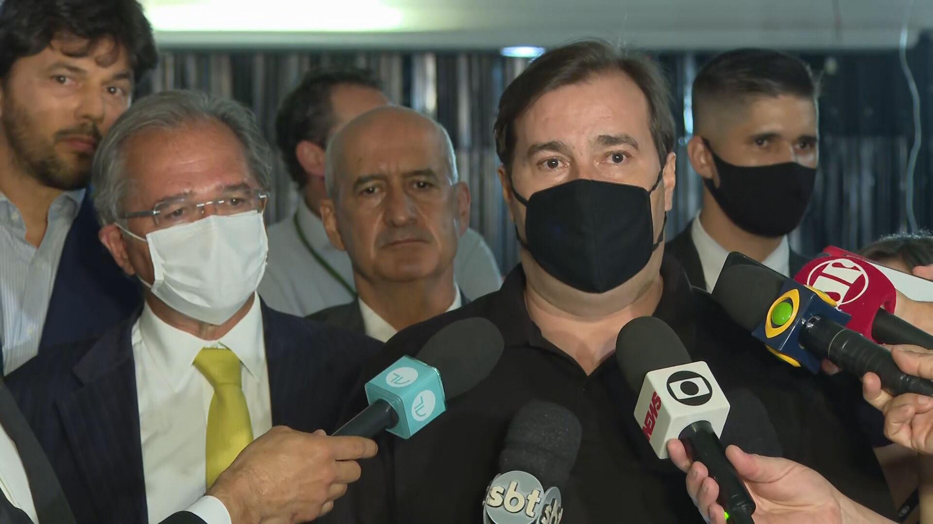 Rodrigo Maia (DEM-RJ), presidente da Câmara, se reuniu com o ministro da Economi