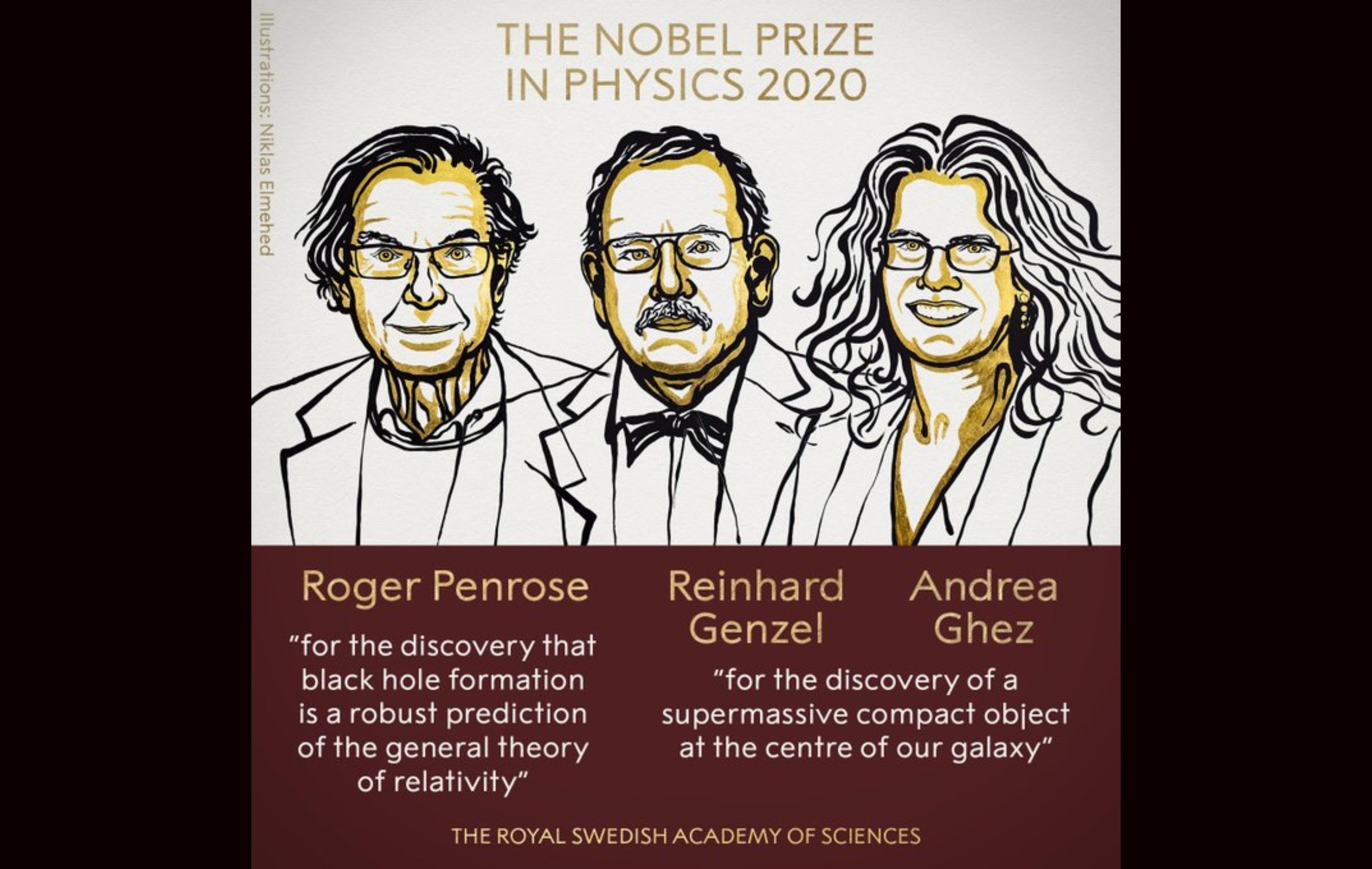 Trio ganhador do Nobel de Física 2020