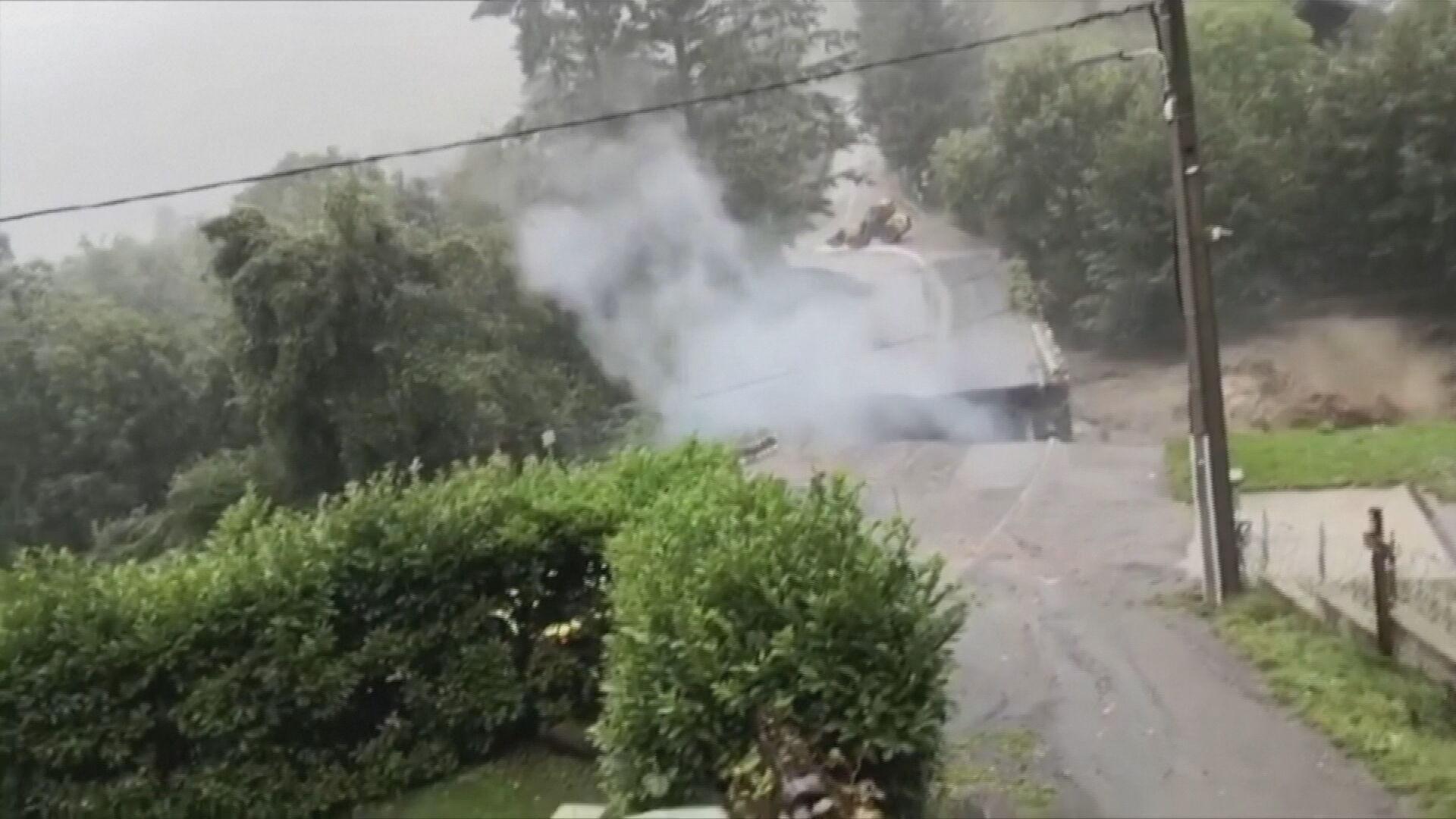 Explosão foi registrada logo após queda de ponte