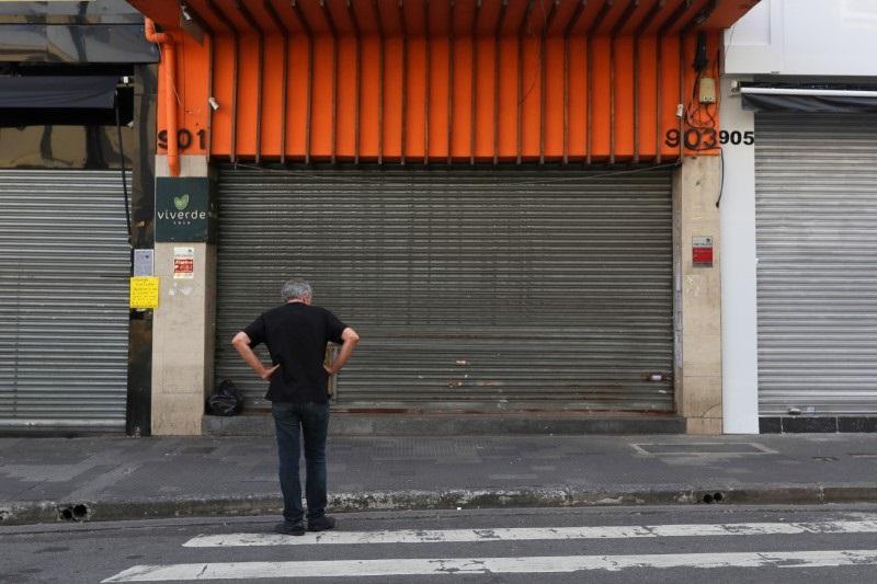 Loja fechada em São Paulo