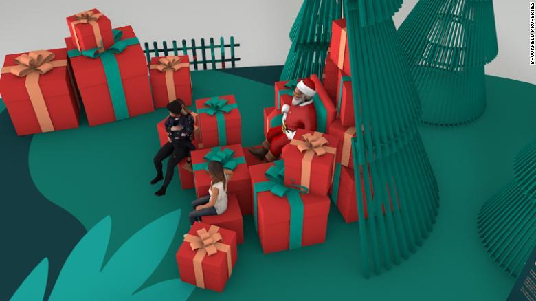 Papai Noel; Shopping Estados Unidos