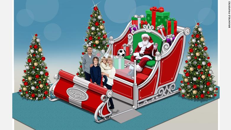 Papai Noel; Shopping; Estados Unidos