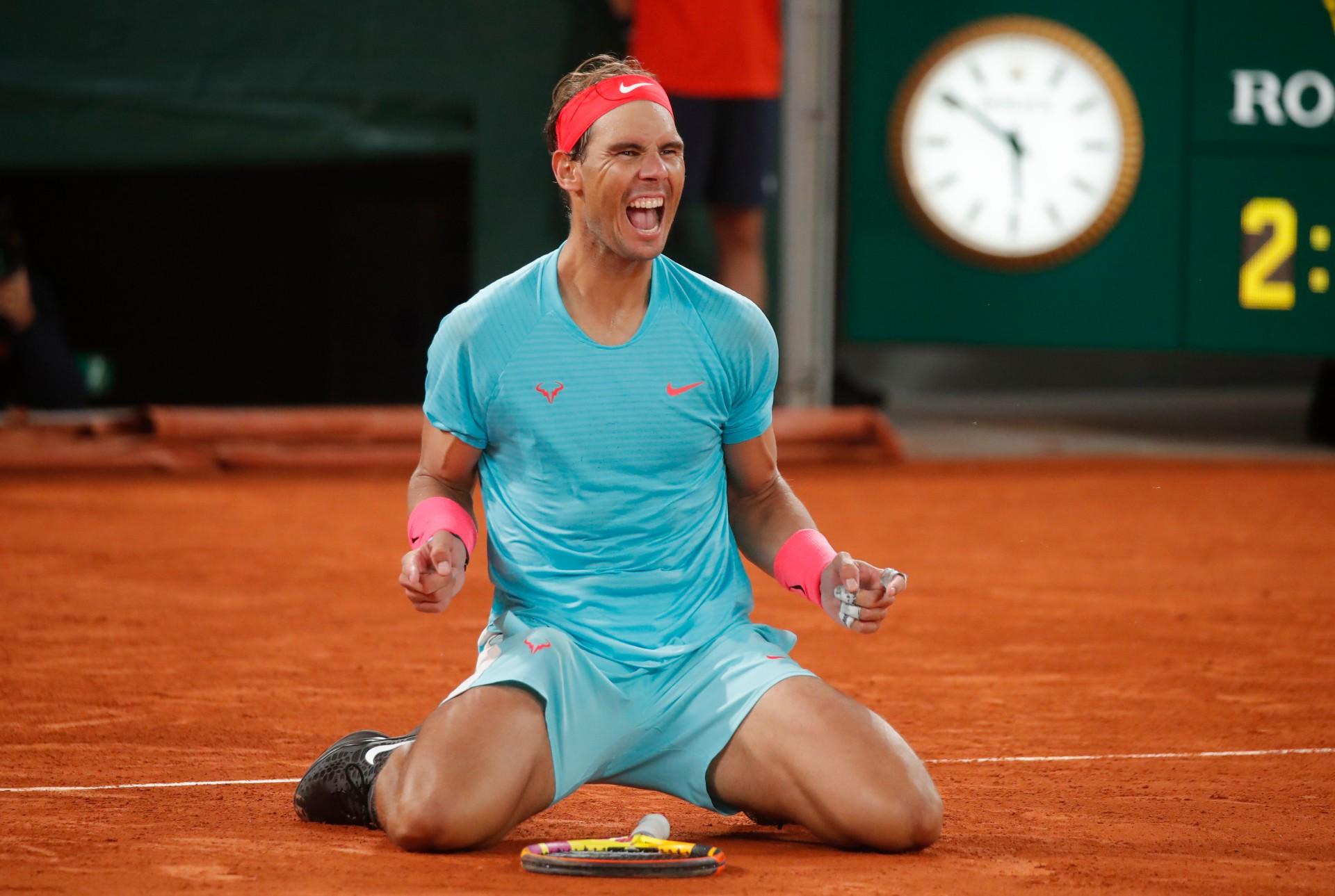 Nadal comemora vitória em Roland Garros