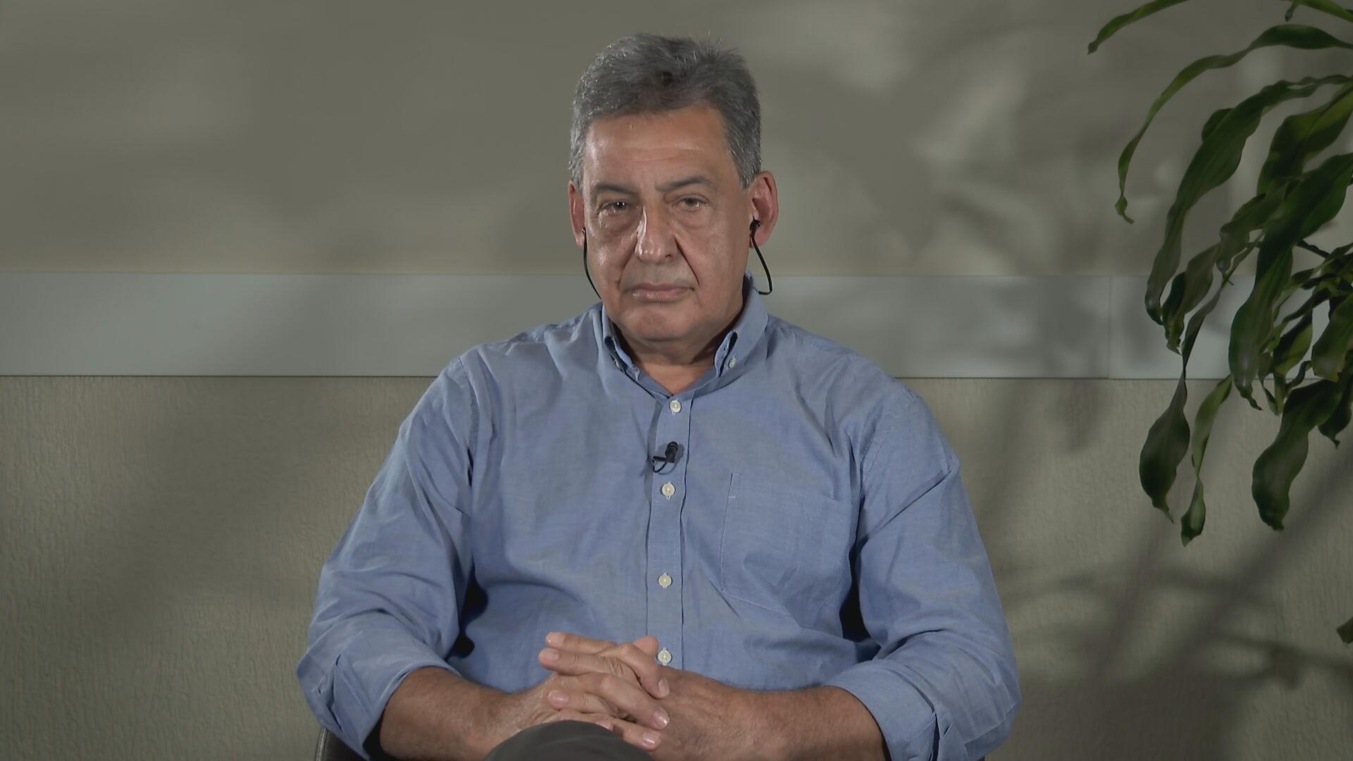 Candidato a prefeitura de Porto Alegre, Sebastião Melo (MDB), em entrevista para