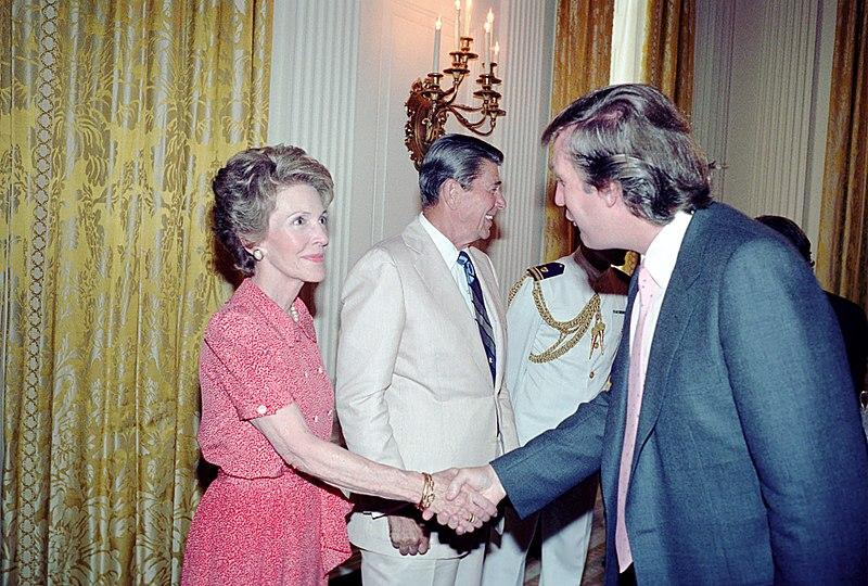 Nancy Reagan e Donald Trump