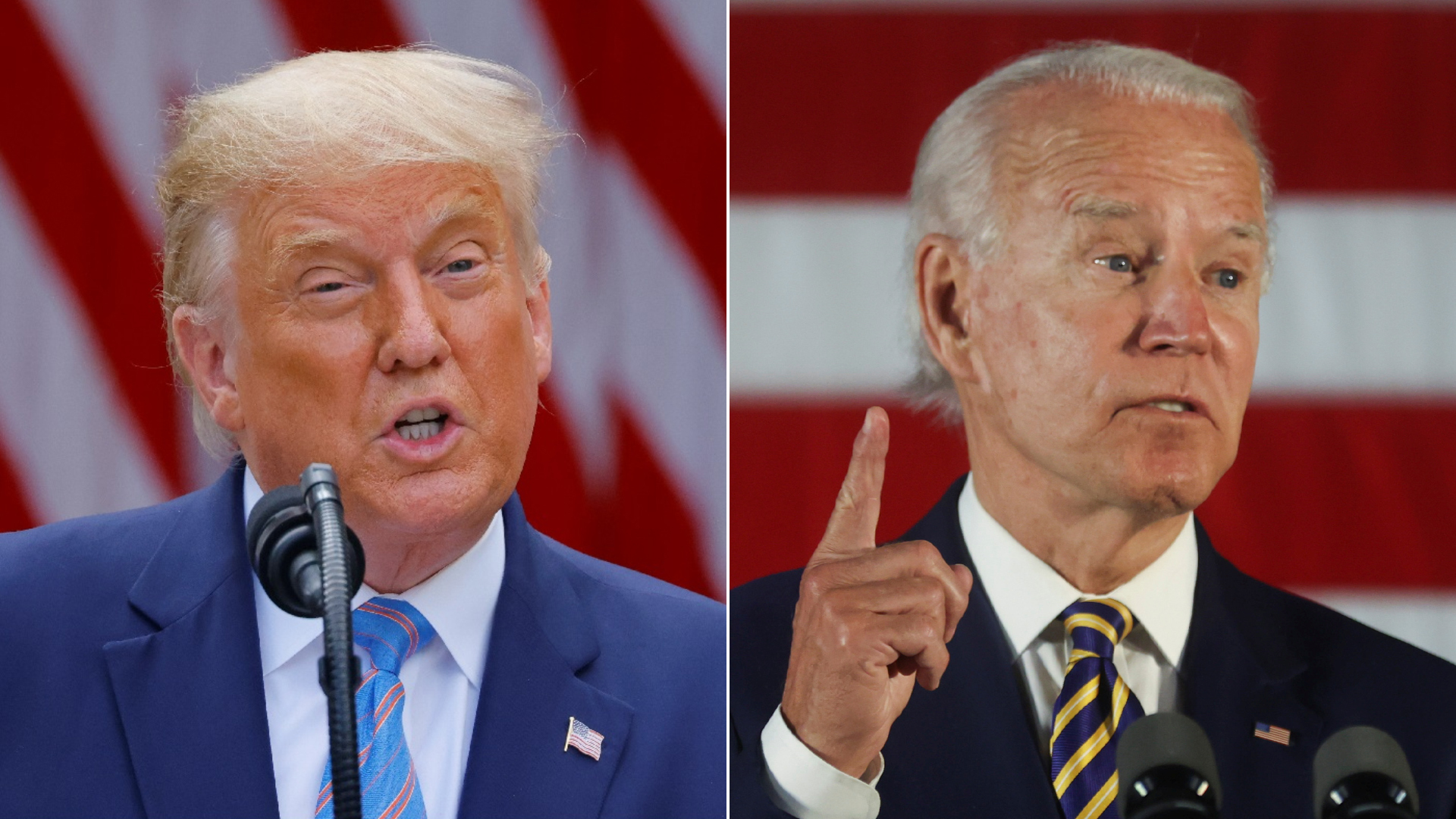 Trump e Biden disputam a Casa Branca