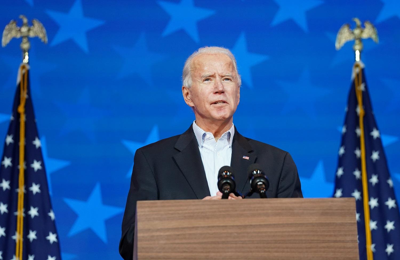 Joe Biden durante discurso nos Estados Unidos
