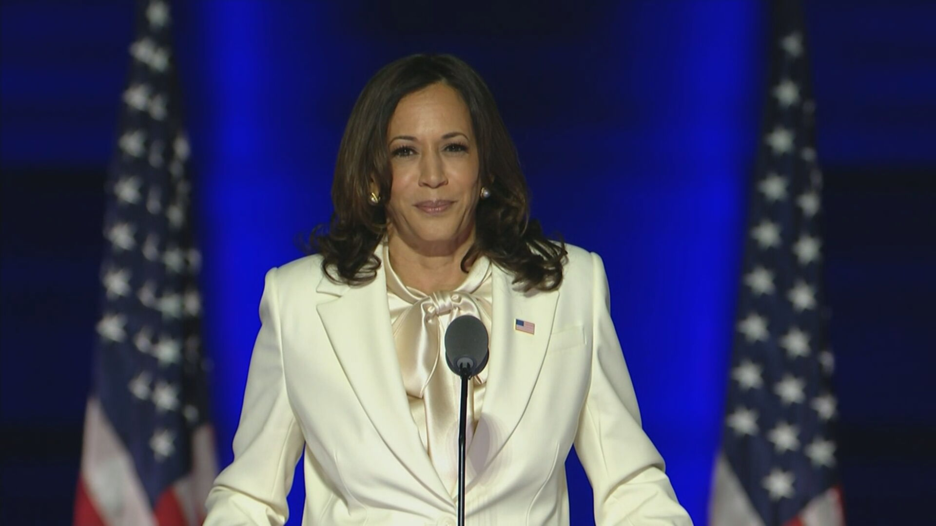 A vice-presidente eleita dos EUA, Kamala Harris (07.nov.2020)