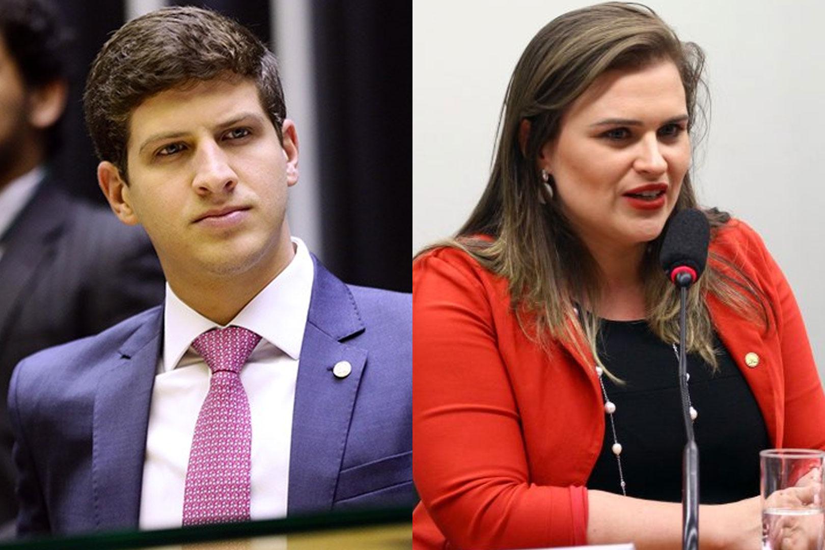 Os candidatos à prefeitura do Recife João Campos (PSB) e Marília Arraes (PT)